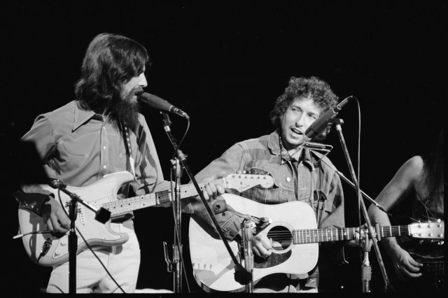 Beatle George Harrison requested that Dylan join the supergroup