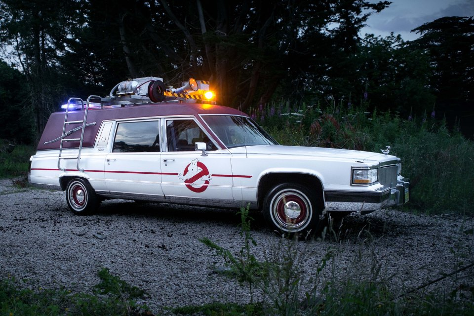The property developer, 58, has collected movie cars from Hollywood for 30 years, including the Ghostbusters' Ecto-1 Cadillac