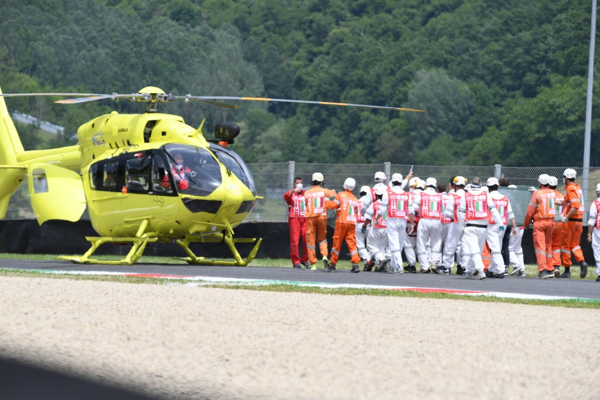Moto 3 ace Jason Dupasquier airlifted to hospital after 19-year-old is struck by another bike in horror Italian GP crash