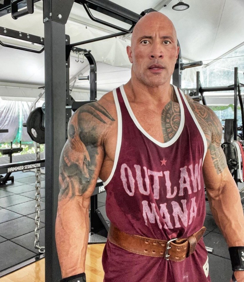 The Rock gave his fans a glimpse of his amazing physique