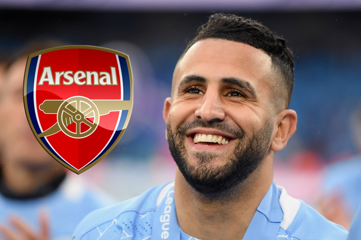 Arsenal interested in shock Riyad Mahrez transfer with 'Man City willing to sell winger along with Raheem Sterling'