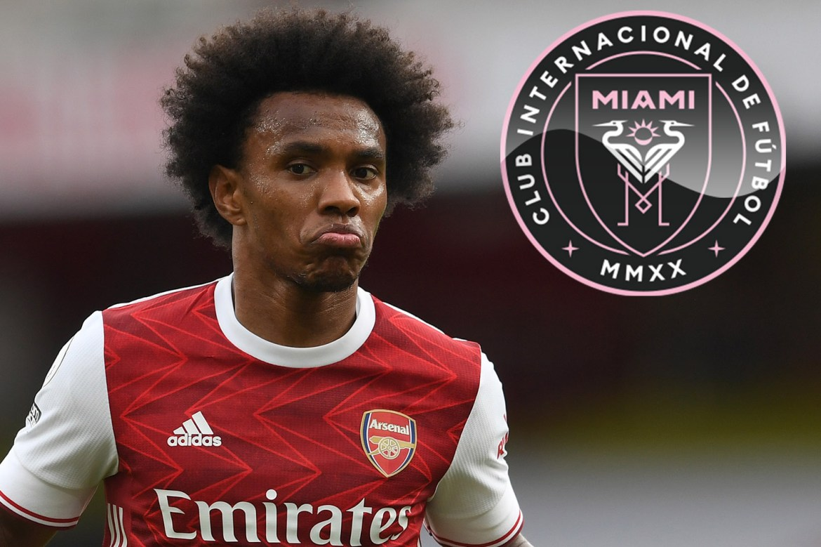 Arsenal flop Willian wants Inter Miami move as Brazilian eyes joining Phil  Neville and David Beckham in Florida