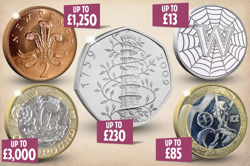 Some coins could be worth thousands of pounds