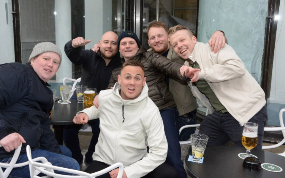 Guys stormed bars and pubs this weekend before the holiday