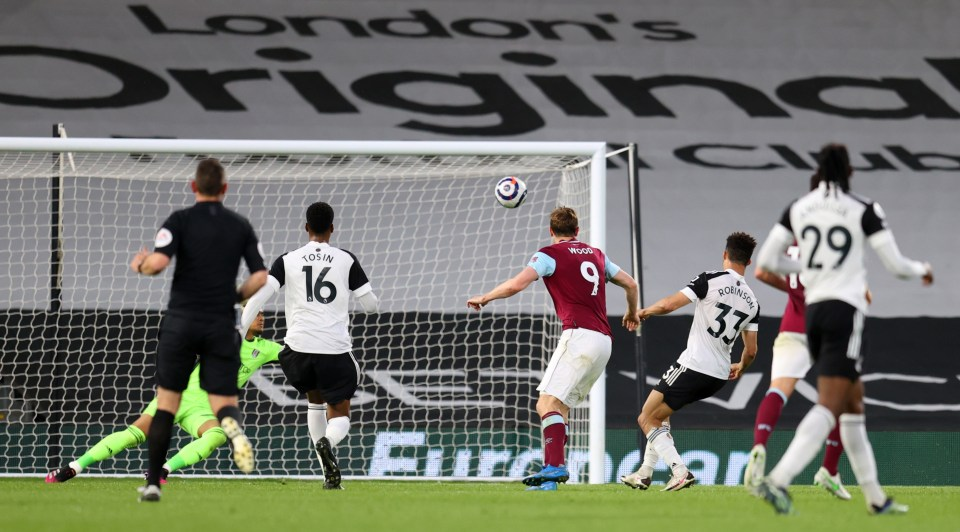 Fulham's fate was sealed with a 2-0 defeat at home to Burnley