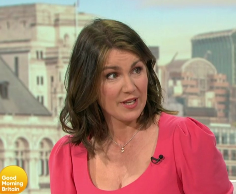 Katie and Carl spoke to GMB host Susanna Reid about their romance