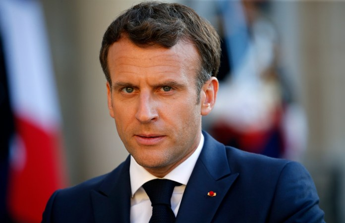 Mr Macron has since turned his back on the incident