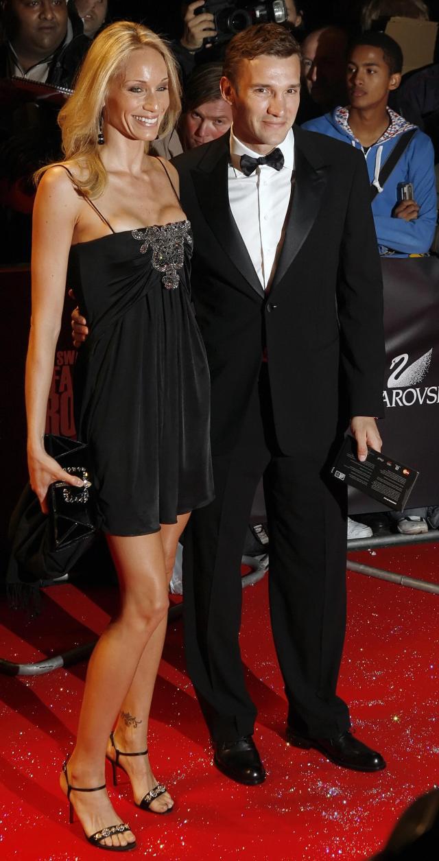 Andriy Shevchenko met his model wife Kristen Pazik at a party