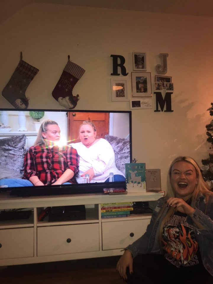 Paige appears on Gogglebox with her mum Sally
