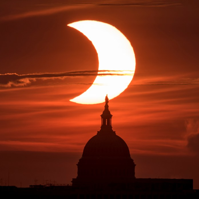 Eclipse on the United States Capitol Building