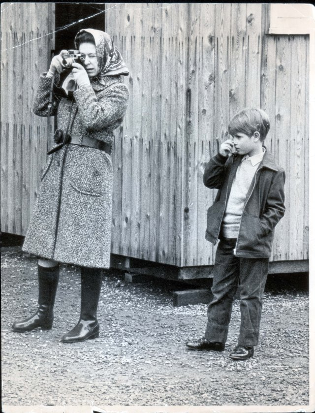 Throwback pictures see Edward spending time with The Queen as a boy. Pictured: The Queen and Edward at Badminton in 1971
