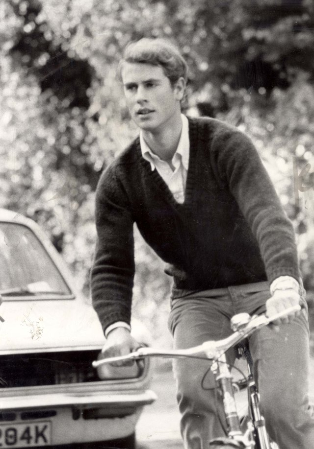 Edward later set up his own production company titled Ardent Productions. Pictured: Edward pictured on his bike cycling around Cambridge