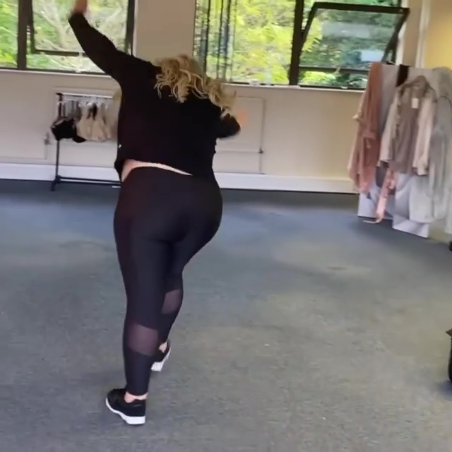 The Towie star posted a video doing a cartwheel