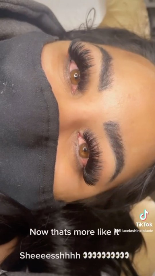 Alyssia was able to give her client a beautiful new set of lashes