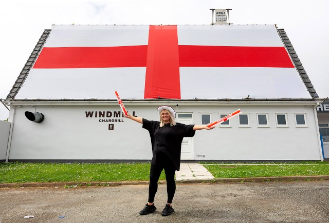 Darren Luxton reckons his flag is the biggest in the country