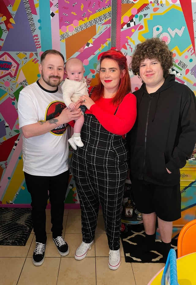 Tash is mum to Anthony, 13, and Franklyn, five months