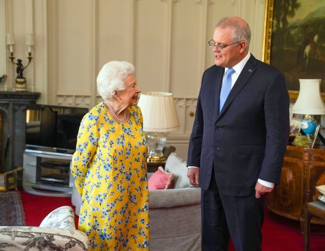 Today, the Queen has received Australian Prime Minister Scott Morrison during an audience in the Oak Room at Windsor Castle