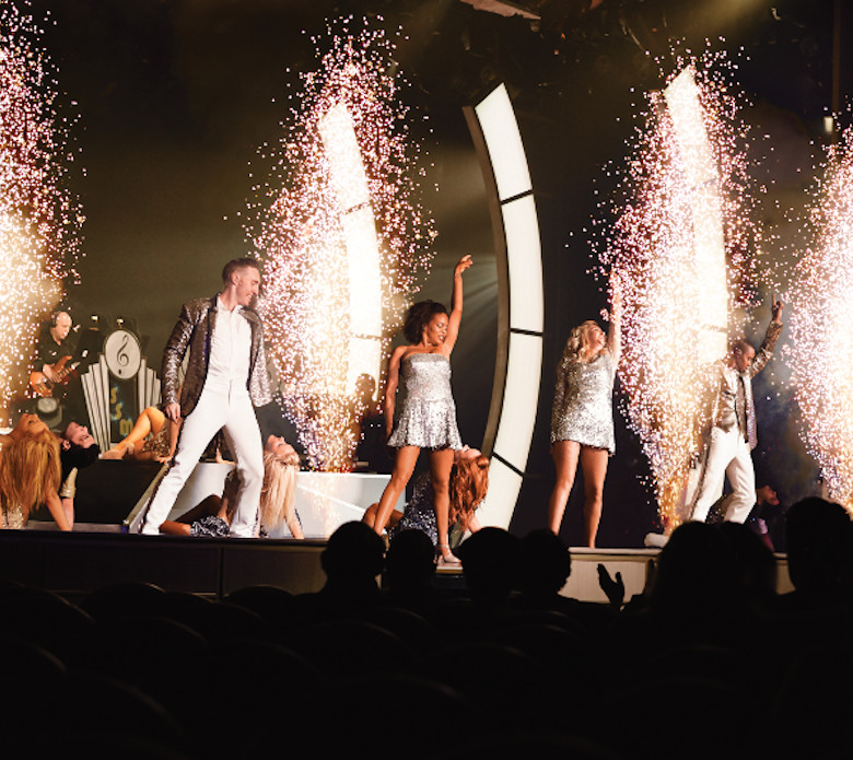 There's live entertainment on board aside from the 80s acts, with Broadway-style productions performed in the ship's theatre