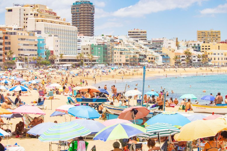 Germans are already flocking to beaches in favourite hotspots like Spain