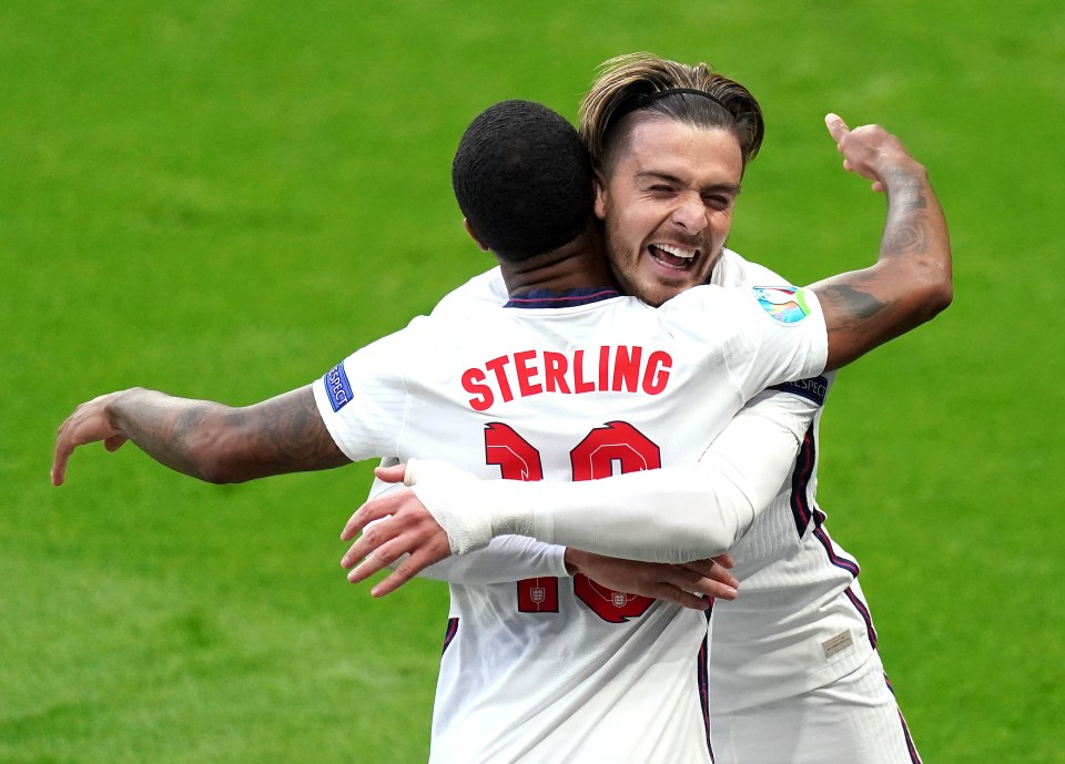 Jack Grealish provided the assist for Raheem Sterling to score against Czech Republic