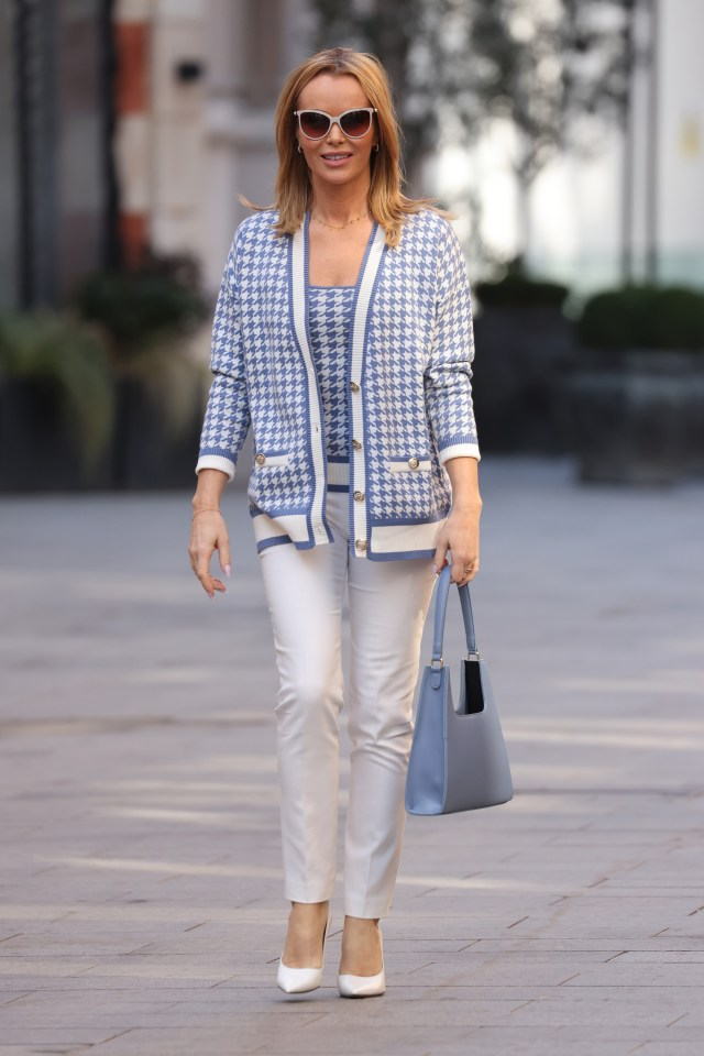 This kind of look can't be avoided right now - Amanda Holden embraced it