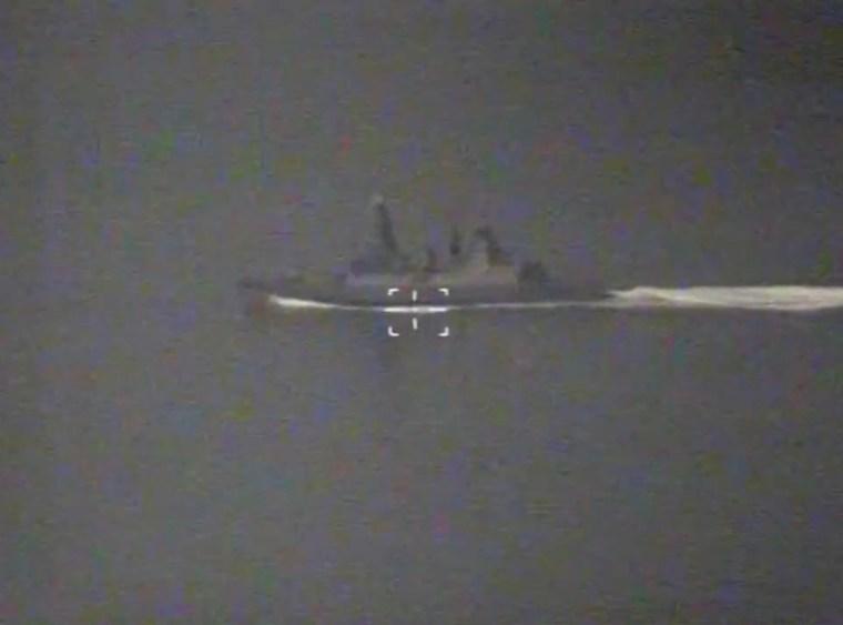 La televisión rusa publicó imágenes de la cabina del avión de guerra del HMS Defender durante el enfrentamiento en junio