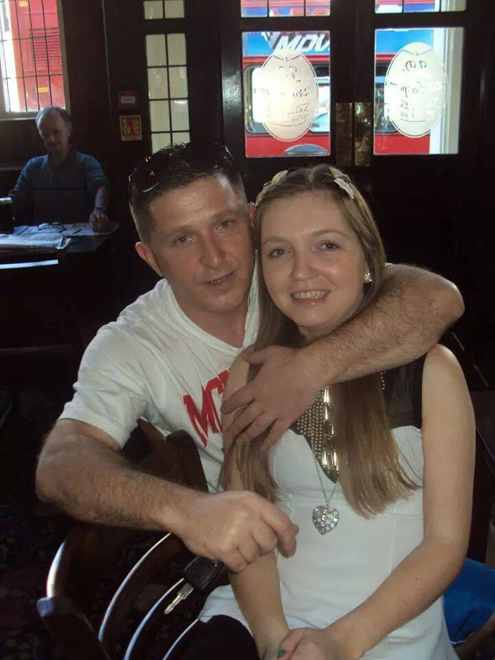 Timothy McDonagh and his partner Kelly Naghten, who died after catching pneumonia