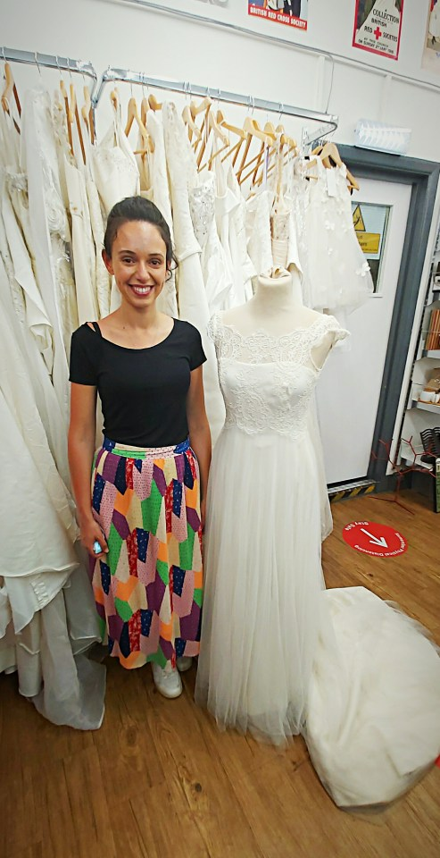 The beautiful dress is now back in the charity shop - ready for a third lucky recipient