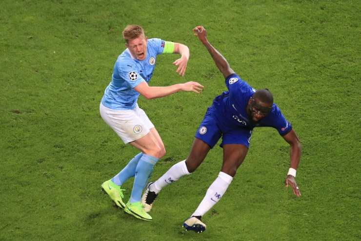 De Bruyne, 29, suffered an orbital fracture in the collision with Antonio Rudiger