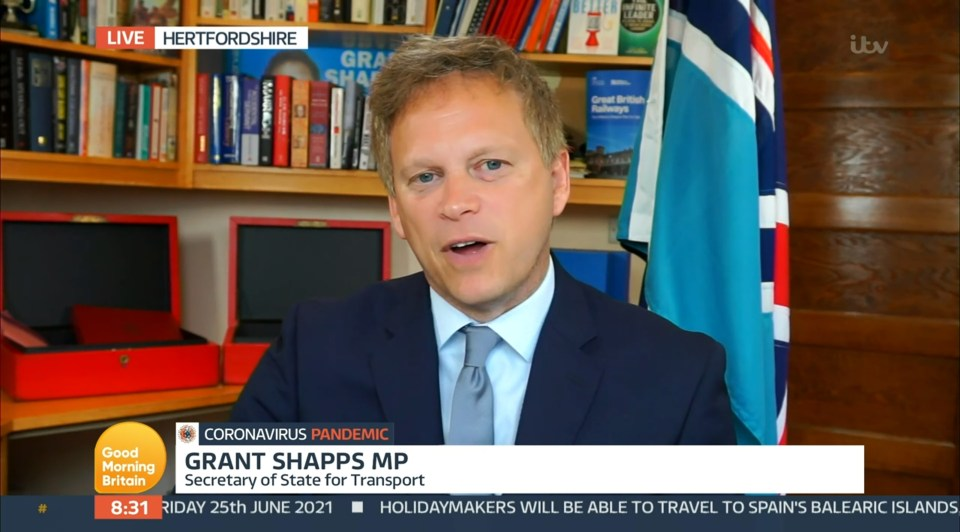 Grant Shapps defended the Health Secretary yesterday