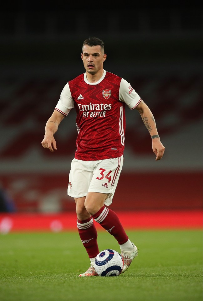 Arsenal midfielder Granit Xhaka has been heavily linked with a move to Roma