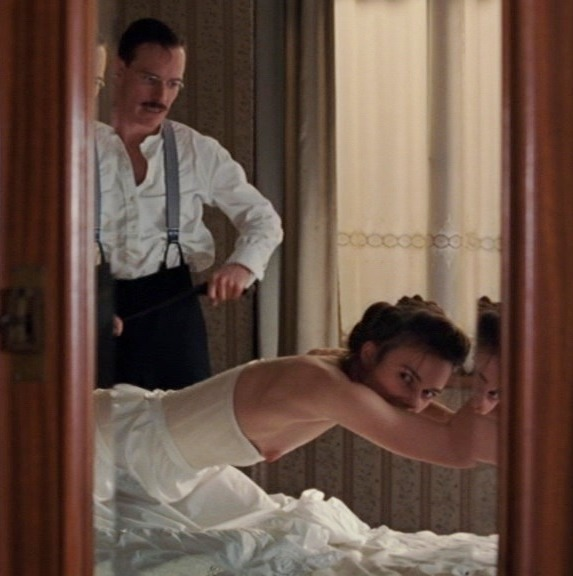 Kiera Knightley and Michael Fassbender took 'a couple of shots' before their romp in A Dangerous Method