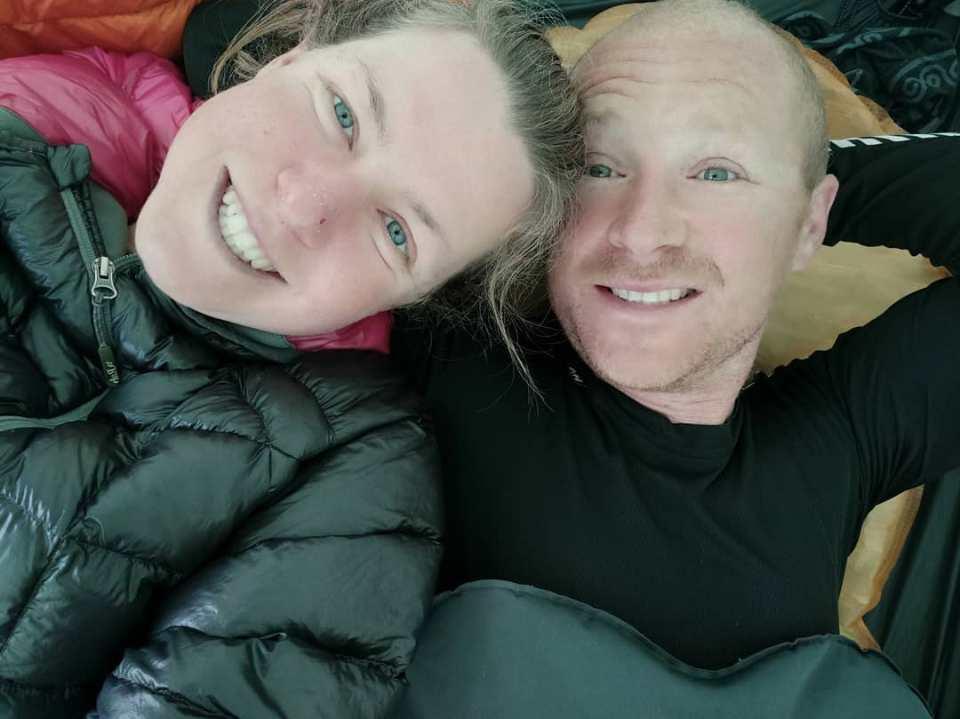 Esther and partner Dan in September 2020
