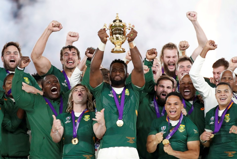 Siya Kolisi and Co will not be able to show off the Webb Ellis Cup at the Lions matches