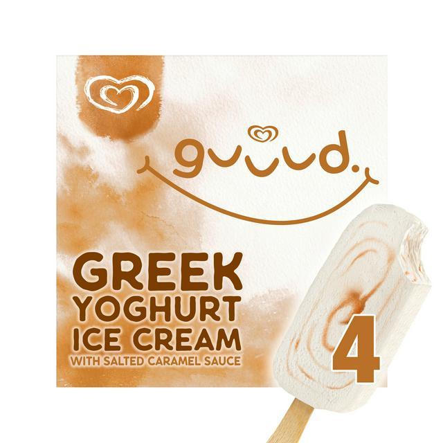 Guuud salted caramel Greek yoghurt ice creams are just £2 at Sainsbury's