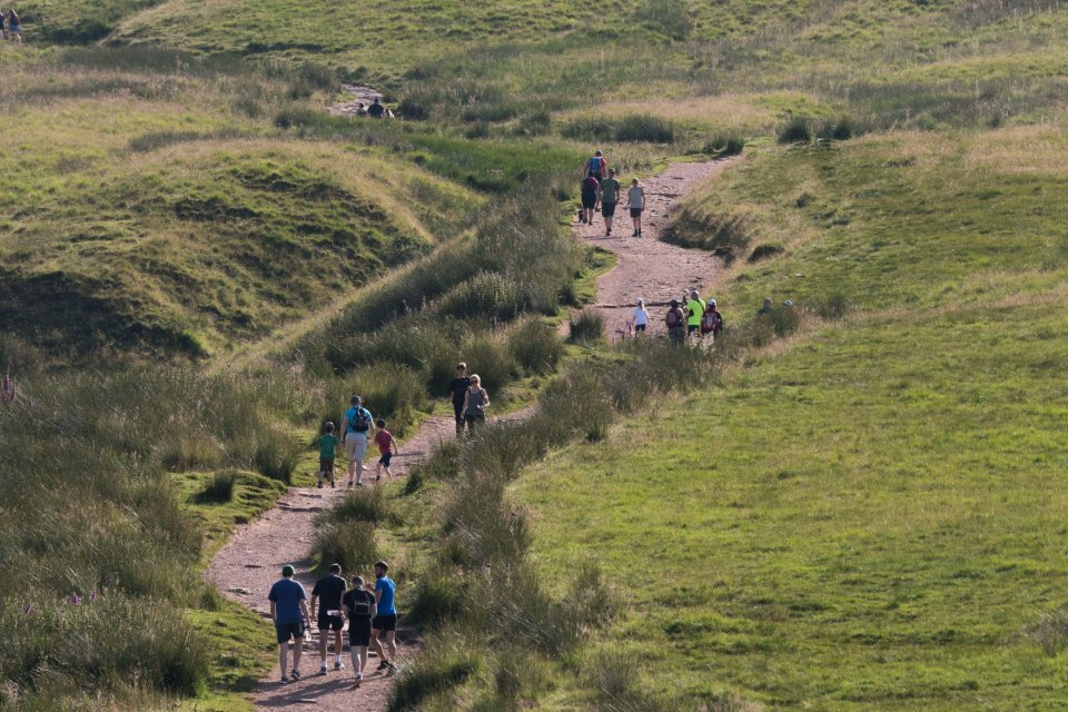 But while millions of us are happy to simply bask, more active families are hiking the Brecon Beacons
