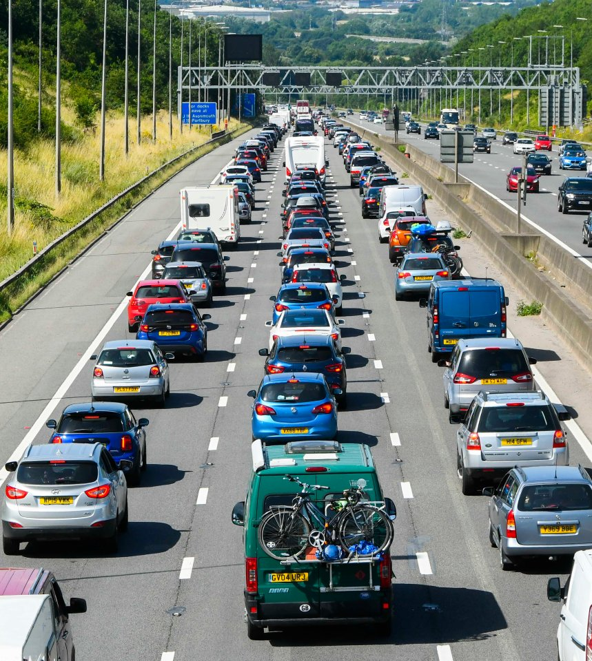 The M5 at Bristol heading to the South West is at a standstill