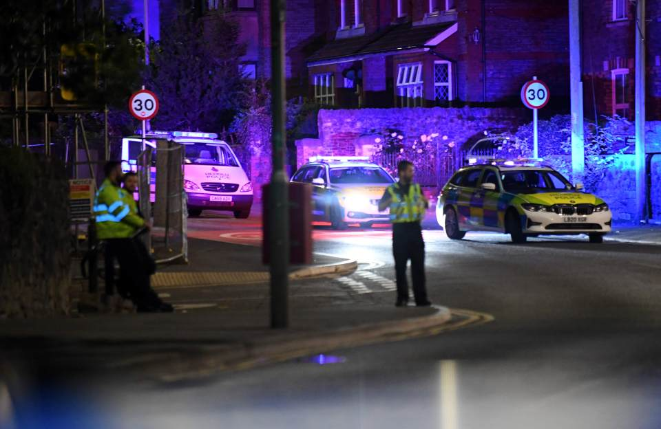 A police cordon is in place in the area