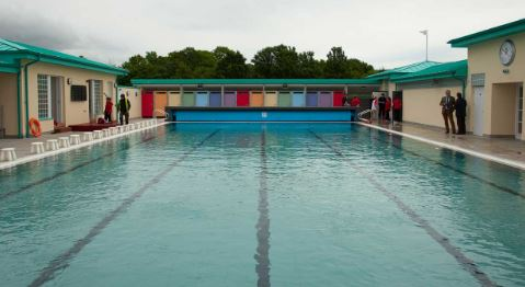 New Cumnock pool is one of the last open air swimming pools in Scotland