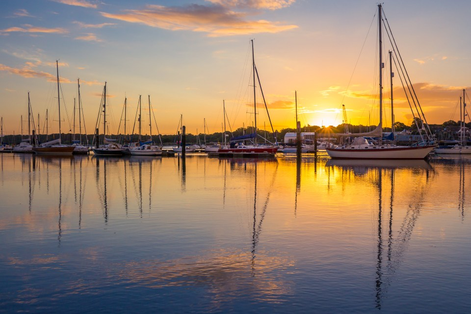 Visit stunning Southampton's port and its sunset as you enjoy a staycation