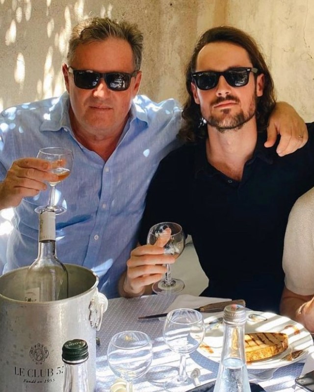 Fans swooned over a snap of Piers Morgan with his son Spencer