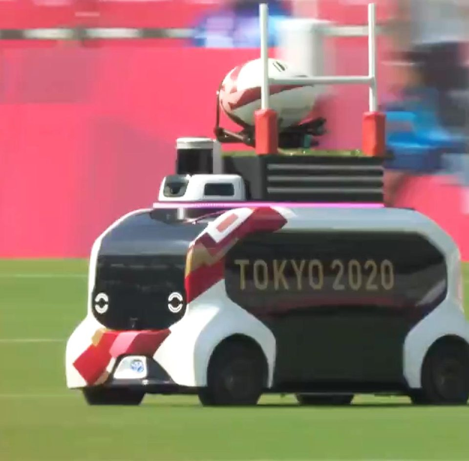 This is how the ball was delivered for the rugby sevens