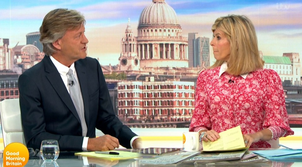 Richard joined Kate Garraway to present Good Morning Britain today