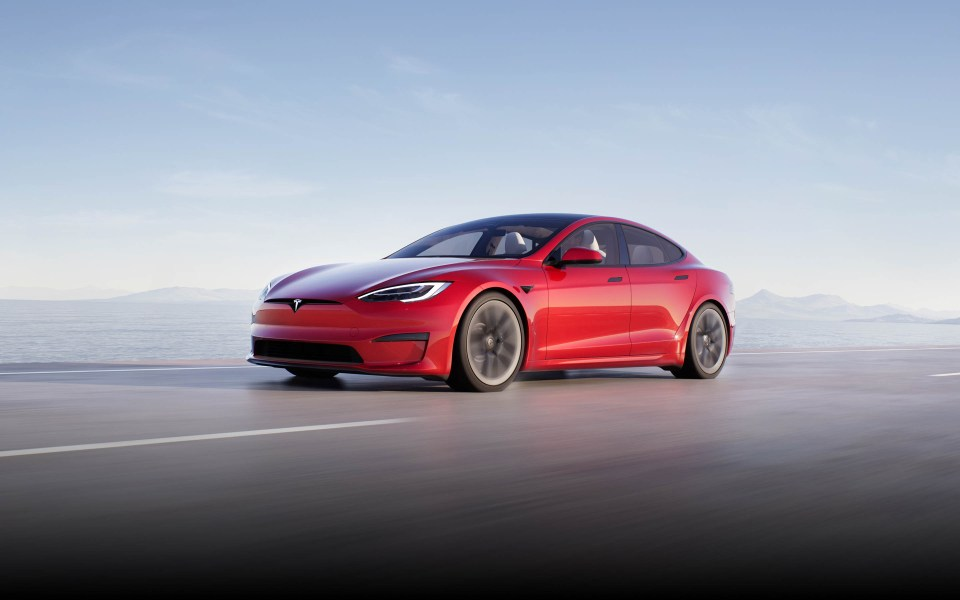 Volodymyr also splashed out $162,899 on a red Tesla Model S (stock)