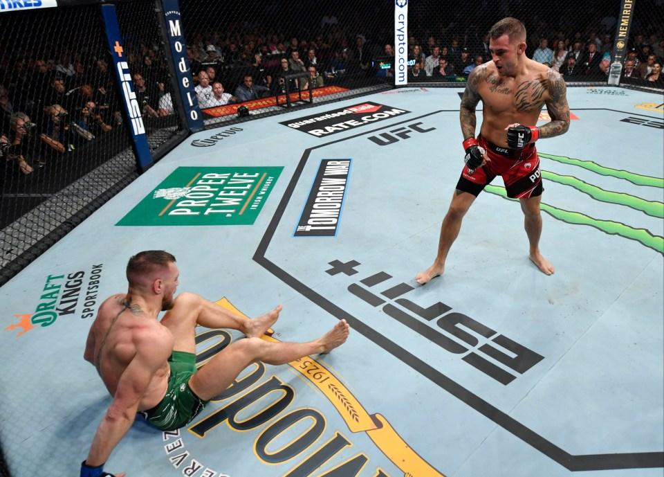 Conor McGregor broke his tibia against Dustin Poirier