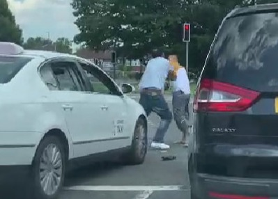 Labour Mayor of Crawley West Sussex Shahzad Abbas Malik was seen fighting a taxi driver in the middle of the road.