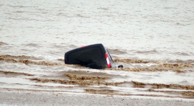 The Coastguards were first aware of the sinking vehicle on Friday August 13
