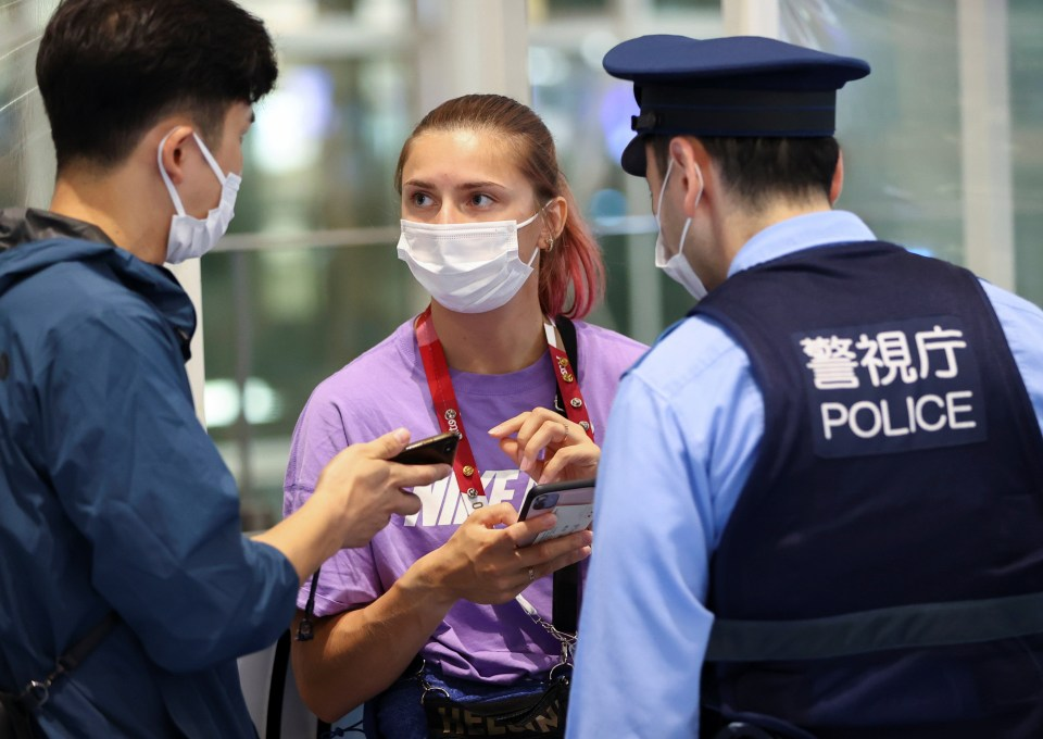 Tsimanouskaya is now 'safe' with Japanese police