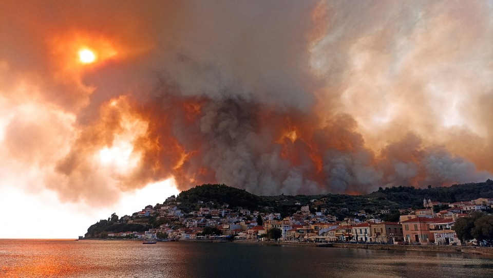 They have mainly affected towns north of the capital Athens