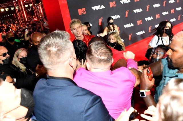 The bust-up took place at MTV's Video Music Awards